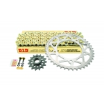 Superlite Titanium sprocket kit with black plated 520 ERV3 race chain